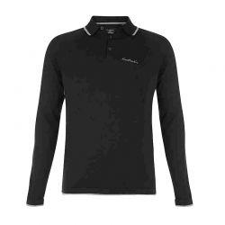 Polo Μαύρο με Μακρύ Μανίκι Pierre Cardin