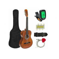 Ακουστική Κιθάρα με Κουρδιστήρι-Tuner Χρώματος Καφέ Hoppline HOP1000982-2