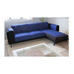 Καπιτονέ Κάλυμμα Γωνιακού Καναπέ 190 cm Χρώματος Μπλε SPM 30040341
