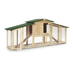 Ξύλινο Κοτέτσι - Σπίτι Μικρών Ζώων Εξωτερικού Χώρου με 2 Επίπεδα SPM 50080006