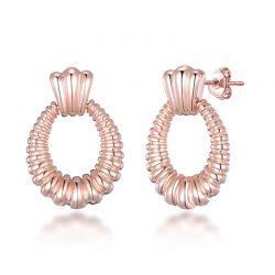 Σκουλαρίκια Χρώματος Ροζ - Χρυσό Philip Jones