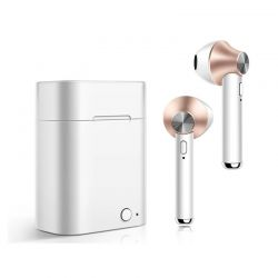 Ασύρματα Ακουστικά Bluetooth με Βάση Φόρτισης Χρώματος Χρυσό Kequ DYN-K411 Gold