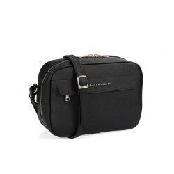 Γυναικεία Τσάντα με Διπλό Φερμουάρ Χρώματος Μαύρο Laura Ashley Furley 651LAS0825