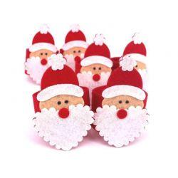 Σετ Χριστουγεννιάτικα Δαχτυλίδια Πετσέτας Φαγητού 4 τμχ Santa Claus SPM DYN-FaceNapRing