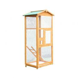 Ξύλινο Κλουβί Πτηνών 68 x 63 x 165 cm PawHut D10-004