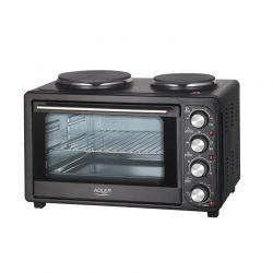 Ηλεκτρικό Κουζινάκι με 2 Εστίες Μαγειρέματος 2500 W Adler AD-6020