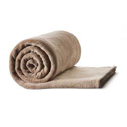 Γούνινη Κουβέρτα Καναπέ 150 x 200 cm Μονή Χρώματος Καφέ Ανοιχτό Idomya 30101163