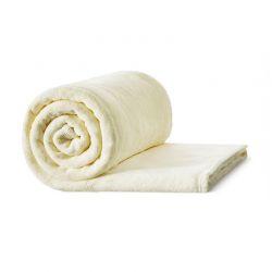 Γούνινη Κουβέρτα Καναπέ 150 x 200 cm Μονή Χρώματος Κρεμ Idomya 30101167