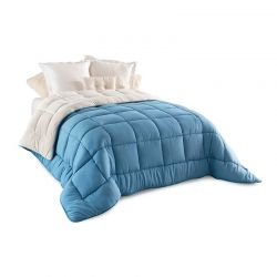 Κουβερτοπάπλωμα 240 x 260 cm King Size Χρώματος Μπλε Idomya 30101162