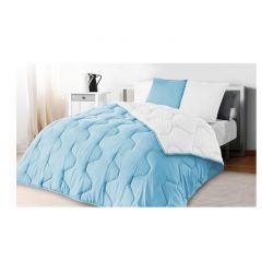 Σετ Πάπλωμα Διπλής Όψης Υπέρδιπλο 220 x 240 cm με 2 Μαξιλάρια Χρώματος Μπλε - Λευκό Idomya 30101097
