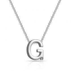 Κολιέ Philip Jones με Μονόγραμμα G και Κρύσταλλο Swarovski®