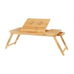 Ξύλινο Βοηθητικό Πτυσσόμενο Τραπέζι Πολλαπλών Χρήσεων με Βάση για Laptop Songmics LLD004