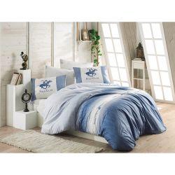 Σετ Διπλή Παπλωματοθήκη με Μαξιλαροθήκες και Σεντόνι 200 x 220 cm Beverly Hills Polo Club 030 Χρώματος Μπλε