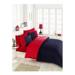 Σετ Διπλή Παπλωματοθήκη με Μαξιλαροθήκες και Σεντόνι 200 x 220 cm Beverly Hills Polo Club 106 Χρώματος Κόκκινο