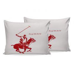 Σετ Μαξιλαροθήκες 50 x 70 cm 2 τμχ Χρώματος Λευκό Beverly Hills Polo Club 176BHP0103