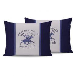 Σετ Μαξιλαροθήκες 50 x 70 cm 2 τμχ Χρώματος Μπλε Beverly Hills Polo Club 176BHP0113