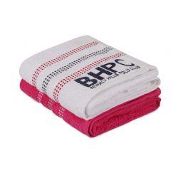 Σετ με 2 Πετσέτες Προσώπου 50 x 90 cm Χρώματος Λευκό - Φούξια Beverly Hills Polo Club 355BHP2286