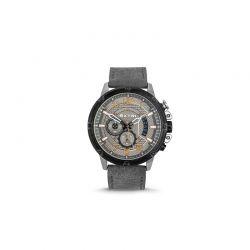 Ανδρικό Ρολόι με Γκρι Σουέτ Δερμάτινο Λουράκι Extri X6020A 8719325422597