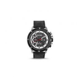 Ανδρικό Ρολόι με Μαύρο Σουέτ Δερμάτινο Λουράκι Extri X6005A 8719325422498