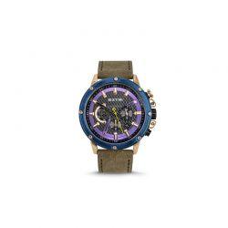 Ανδρικό Ρολόι με Χακί Σουέτ Δερμάτινο Λουράκι Extri X6005E 8719325422535