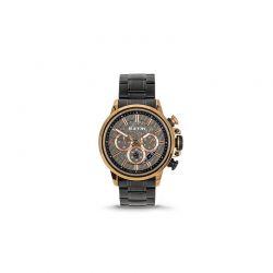 Ανδρικό Ρολόι Χρώματος Μαύρο με Μεταλλικό Μπρασελέ Extri X6011D 8719325422573