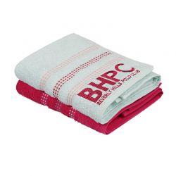 Σετ με 2 Πετσέτες Προσώπου 50 x 90 cm Χρώματος Mint - Φούξια Beverly Hills Polo Club 355BHP1266