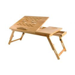 Ξύλινο Βοηθητικό Πτυσσόμενο Τραπέζι Πολλαπλών Χρήσεων με Βάση για Laptop SPM 7974