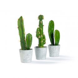 Σετ Τεχνητά Φυτά Κάκτοι σε Γλάστρες 3 τμχ SPM 40080787