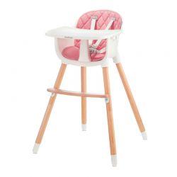 Παιδικό Κάθισμα Φαγητού 2 σε 1 Χρώματος Ροζ Baby Tiger Tini