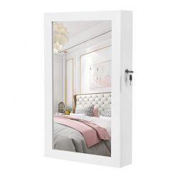 Κρεμαστή Κοσμηματοθήκη Μπιζουτιέρα με Καθρέπτη 67 x 37 x 10.5 cm Songmics JBC51W