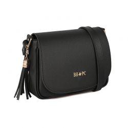 Γυναικεία Τσάντα Χιαστί Χρώματος Μαύρο Beverly Hills Polo Club 1107 668BHP0149