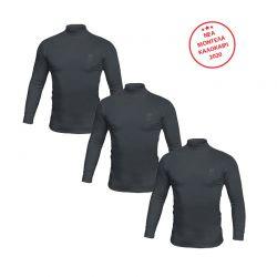 Σετ Ανδρικές Μακρυμάνικες Μπλούζες Ζιβάγκο 3 τμχ Χρώματος Μπλε Sergio Tacchini LL510BL