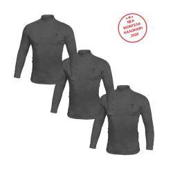 Σετ Ανδρικές Μακρυμάνικες Μπλούζες Ζιβάγκο 3 τμχ Χρώματος Σκούρο Γκρι Sergio Tacchini LL510GS