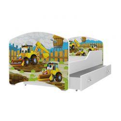 Ξύλινο Παιδικό Μονό Κρεβάτι με Στρώμα και 1 Συρτάρι 160 x 80 cm SPM JAN-IGOR160-48