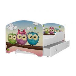 Ξύλινο Παιδικό Μονό Κρεβάτι με Στρώμα και 1 Συρτάρι 160 x 80 cm SPM JAN-IGOR160-59