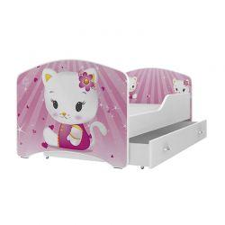 Ξύλινο Παιδικό Μονό Κρεβάτι με Στρώμα και 1 Συρτάρι 160 x 80 cm SPM JAN-IGOR160-8