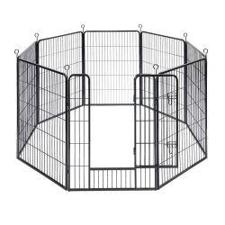 Οκτάγωνο Μεταλλικό Κλουβί - Πάρκο Εκπαίδευσης Σκύλου Βαρέως Τύπου 77 x 100 cm Feandrea PPK81H