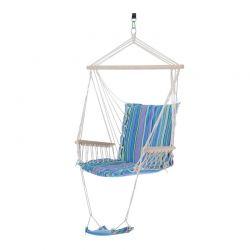 Μονή Αιώρα με Υποπόδιο Χρώματος Μπλε Outsunny 84A-016GY