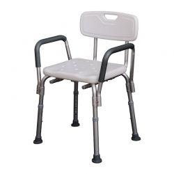 Αντιολισθητική Καρέκλα Μπάνιου με Ρυθμιζόμενο Ύψος HOMCOM 72-0007