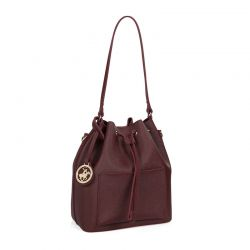 Γυναικεία Τσάντα Ώμου Χρώματος Μπορντό Beverly Hills Polo Club 591 v2 657BHP0503