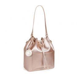 Γυναικεία Τσάντα Ώμου Χρώματος Ροζ - Χρυσό Beverly Hills Polo Club 591 v2 657BHP0508