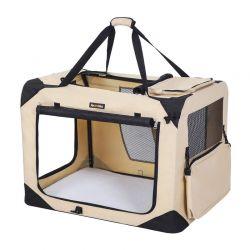 Τσάντα Μεταφοράς Σκύλου 60 x 40 x 40 cm Χρώματος Μπεζ Songmics PDC60W