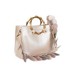 Γυναικεία Τσάντα Χειρός με Λουράκι Χρώματος Χρυσό Beverly Hills Polo Club 712 657BHP0892