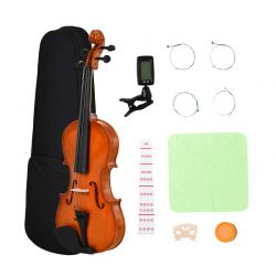 Κλασικό Βιολί 4/4 με Δοξάρι και Θήκη Μεταφοράς HOMCOM F30-001