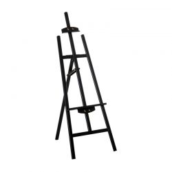 Ξύλινο Αναδιπλούμενο Καβαλέτο Ζωγραφικής 60 x 46 x 140 cm Χρώματος Μαύρο HOMCOM 914-020BK