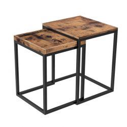 Σετ Μεταλλικά Βοηθητικά Τραπέζια Nesting 45 x 55 x 40 cm VASAGLE LNT02BX