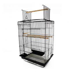 Μεταλλικό Κλουβί Πτηνών 29.5 x 41.5 x 56.5 cm PawHut D10-049