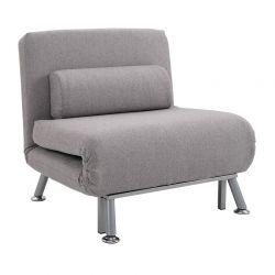 Πολυθρόνα - Κρεβάτι με Μαξιλάρι 75 x 70 x 75 cm Χρώματος Γκρι HOMCOM 833-066V70GY