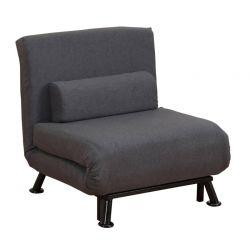 Πολυθρόνα - Κρεβάτι με Μαξιλάρι 75 x 70 x 75 cm Χρώματος Μαύρο HOMCOM 833-066V70BK