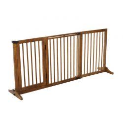 Ξύλινο Πτυσσόμενο Προστατευτικό για Κατοικίδια 71 x 113-166 cm PawHut D06-079